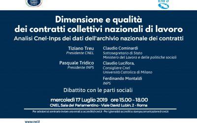 Dimensione e qualità dei contratti collettivi nazionali di lavoro