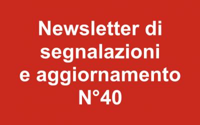 Newsletter 40 – Gennaio 2019