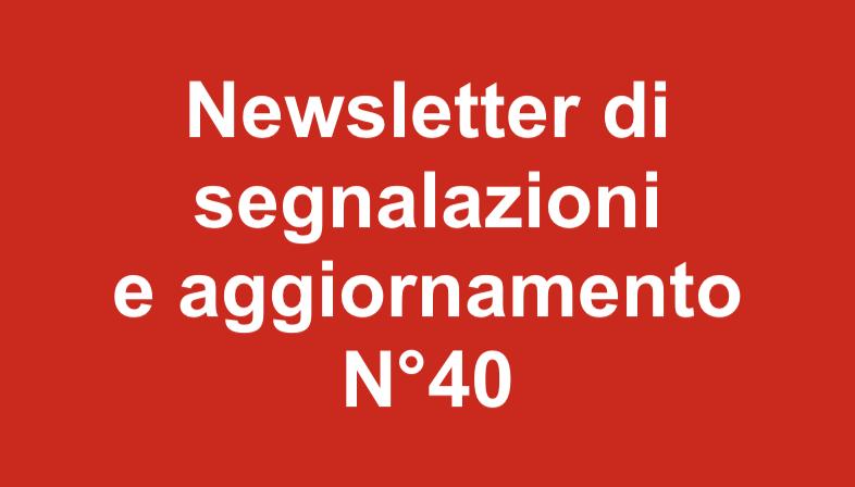 Newsletter 40 Gennaio 2019
