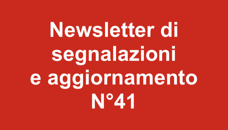 Newsletter 41 Marzo 2019
