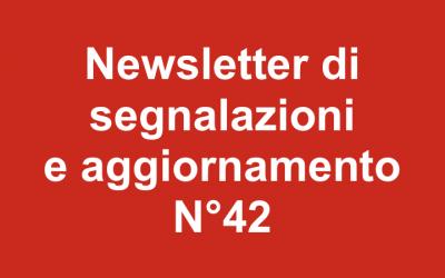 Newsletter 42 – Maggio 2019