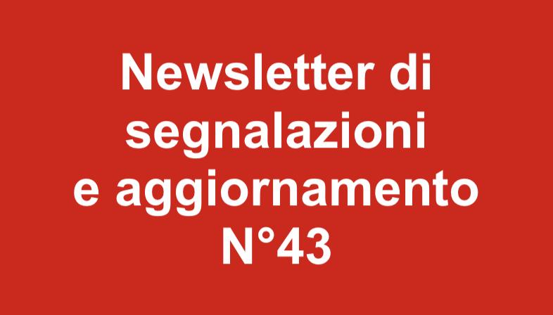 Newsletter 43 – Giugno 2019