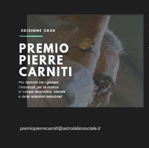 Premio Pierre Carniti 2020
