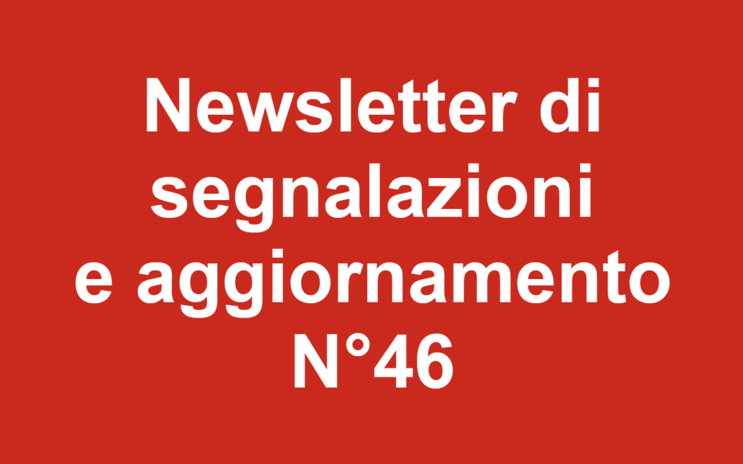 Newsletter 46 Dicembre 2019