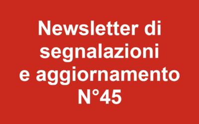 Newsletter 45 – Ottobre 2019
