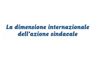 La dimensione internazionale dell'azione sindacale