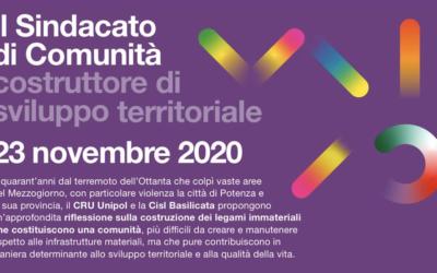 Il Sindacato di Comunità costruttore di sviluppo territoriale – 23 Novembre 2020
