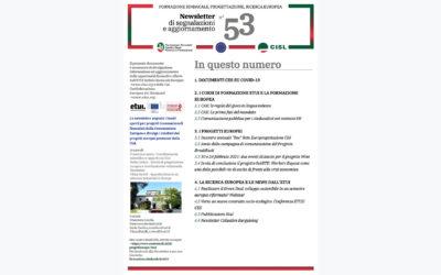 Newsletter Formazione Progettazione Ricerca Europea N°53